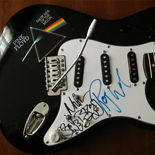 Pink Floyd Signed Guitar Roger Water Nick Mason Autographed Stratocaster sketch