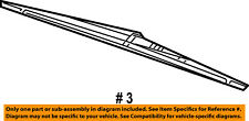 Dodge CHRYSLER OEM 09-15 Journey Wiper-Rear Window Blade 68040372AA