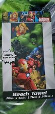 MARVEL SUPERHEROES  Beach Towel 28x58 Spring Summer NWT