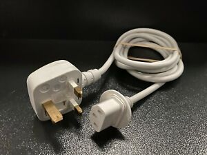 Genuine Apple Volex iMac Mains Power Charger Lead Cable 1.8m UK Plug White Tip