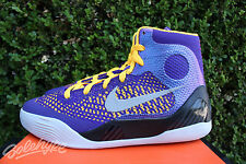 NIKE KOBE IX ELITE GS SZ 6.5 Y SHOW TIME COURT PURPLE LASER ORANGE 636602 501