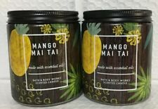 Bath And Body Works 2 Packs Of Mango Mai Tai Single Wick Candles
