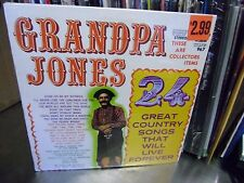 Grandpa Jones 24 Great Country Songs That Will Live Forever LP 1975 Gusto Sealed