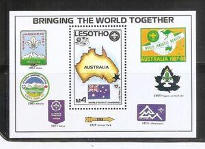 Lesotho SC # 598 World Scout Jamboree , Australia 1987-88  MNH