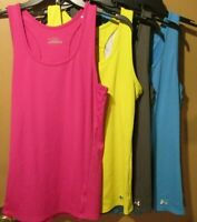 Under Amour Heat Gear Racer Back Tank top Ladies Large Pink Blue Gray (9-314SP