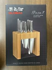 Global IKASU-X 10 Piece Knife Block Set Made in Japan New In Box (FREE SHIPPING)