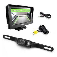 "New Pyle PLCM46 4.3"" Monitor & Backup Camera Night Vision Parking Assist System"