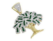 Men's 10K Yellow Gold Money Tree Dollar Genuine Diamond Pendant 2.0ct 1.5 In