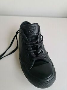 Black Leather Converse Sneakers Sz 7 / 37.5