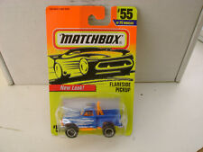 1996 MATCHBOX SUPERFAST #55 BLUE FORD F-150 FLARE SIDE PICKUP NEW ON CARD