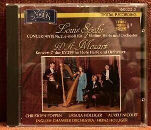 CD Spohr Concertante Mozart Flöte Harfe Konzert Holliger Nicolet NOVALIS 1988 VG