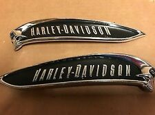 New Harley Davidson CVO Breakout Skull Tank Emblems Medallions Softail Touring