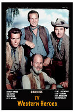 "4""x6"" Magnet -""Rawhide"" Tv Western Heroes"" Clint Eastwood, Eric Fleming-cast"