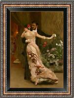 "Old Master-Art Antique Oil Painting Portrait dance couple on canvas 24""x36"""
