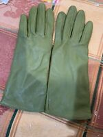 WOMENS J CREW FACTORY 100% LEATHER GREEN GLOVES