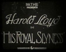 "16mm Film Harold Lloyd in "" HIS ROYAL SLYNESS "" Silent"