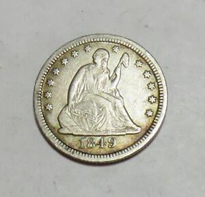 1849 SEATED QUARTER