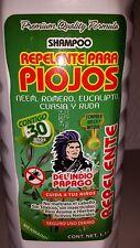 LICE SHAMPOO KILLS PI0JOS DEL INDIO PAPAGO  1.1.LT  MEXICO  33 OZ ALL HAIR TYPES