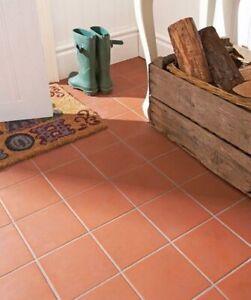 RED QUARRY ITALIAN, FROST- PROOF FLOOR TILES 15 x 15cm JOB LOT OF 20 SQ.METERS
