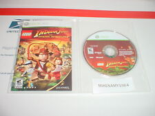 LEGO INDIANA JONES: THE ORIGINAL ADVENTURES game disc in case w/ manual XBOX 360
