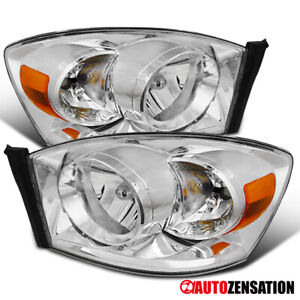 For Dodge 2006-2008 Ram 1500 07-09 Ram 2500 3500 Clear Headlights Signal Lamps