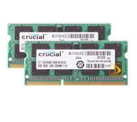 16GB Crucial 2X 8GB PC3-12800S SODIMM RAM Laptop Memory DDR3L 1600Mhz For Intel