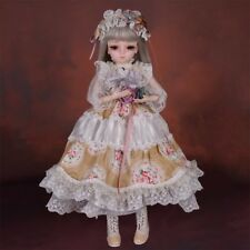 1/4 BJD Doll Mini Ball Jointed Dolls Baby Girls Toddler Makeup Full Set Outfit