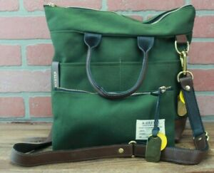 R.Riveter Canvas Carry All Tote Satchel with Pouch Otto (Olive/Brown) Bag Purse