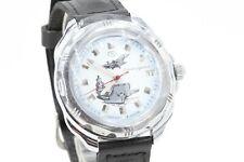 Russische Handaufzug Uhr Datumsanzeige 38 mm Sekundenzeiger Stahl Leder #RU03