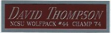DAVID THOMPSON NCSU NAMEPLATE AUTOGRAPHED Signed JERSEY-BASKETBALL-PHOTO-FLOOR