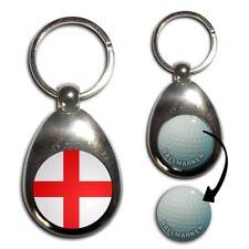 ENGLAND FLAG-chrome Golf Balle Marqueur Key Ring New