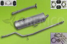 Komplette Auspuffanlage + Montagesatz PEUGEOT 206 1.1i 1.4i 2000-2006 Auspuff