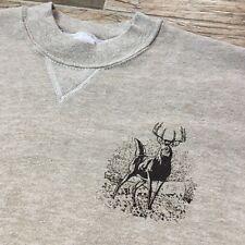 Vintage 1985 BOW HUNTER Wildlife Sweatshirt Deer Buck Brown Hipster Ugly Sweater