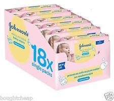 Johnson's Baby Extra sensible Toallitas Sin Fragancia Paquete de 18 Toallitas total 1008