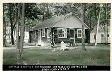Cottage 3, Fettig's Northwoods Cottages, Big Chetac Lake, Birchwood WI RPPC 1962