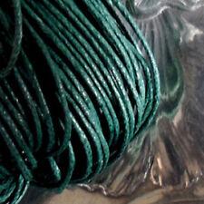 5 mètres de Fil Coton Ciré VERT JUNGLE Epaisseur 1 mm
