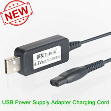USB Power Charger Adapter Cord for Philips Norelco Multigroom Grooming QG3250 32