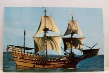 Massachusetts MA Plymouth Mayflower II Postcard Old Vintage Card View Standard