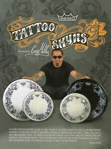 2010 Print Ad of Remo Tattoo Skyns Drumheads by Corey Miller of LA Ink