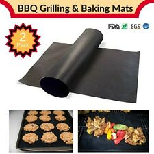 2 Baking/BBQ Mats 100% Non-Silpat/Non-Stick Heat Resistant 13x16 Miracle Mats
