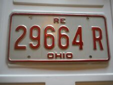 OHIO REPLACEMENT LICENSE PLATE 29664R EXPIRED