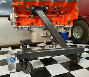 "NEW Engine Cart Stand Cradle, FITS the LS & Gen 5 LT W/ trans, 4"" casters (SV)"