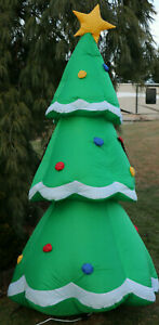 Gemmy Air Blown Inflatable Christmas Tree Decorated Yard Decor Blow Up