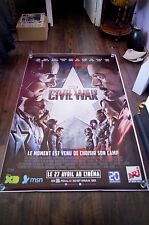 CAPTAIN AMERICA CIVIL WAR B 4x6 ft Bus Shelter D/S Movie Poster Original 2016