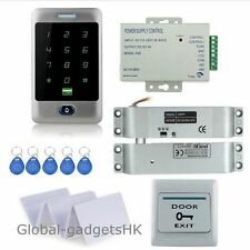 Metal RFID Card Door Access Control System+Electric Drop Bolt Lock+10 ID Keyfobs