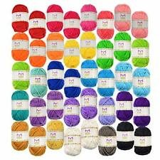 40 Mixed Yarn Lot Skeins Assorted Colors Huge Lot Acrylic Wool Balls