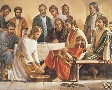 Jesus Washing The Apostles Feet / Christian 8 x 10 / 8x10 GLOSSY Photo Picture