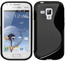 Amzer LUCIDA TPU ibrido custodia Cover per Galaxy S Duos 2 S7582 S7562-Nero