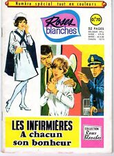 ROSES BLANCHES RARE NUMERO SPECIAL HORS SERIE PAGES EN BICHROMIE AREDIT 1968