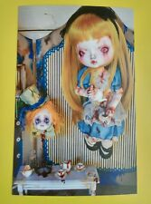 Carte postale poupée dolls Evil Sinistre Alice au pays des merveilles Photo Mad Hatter Tea